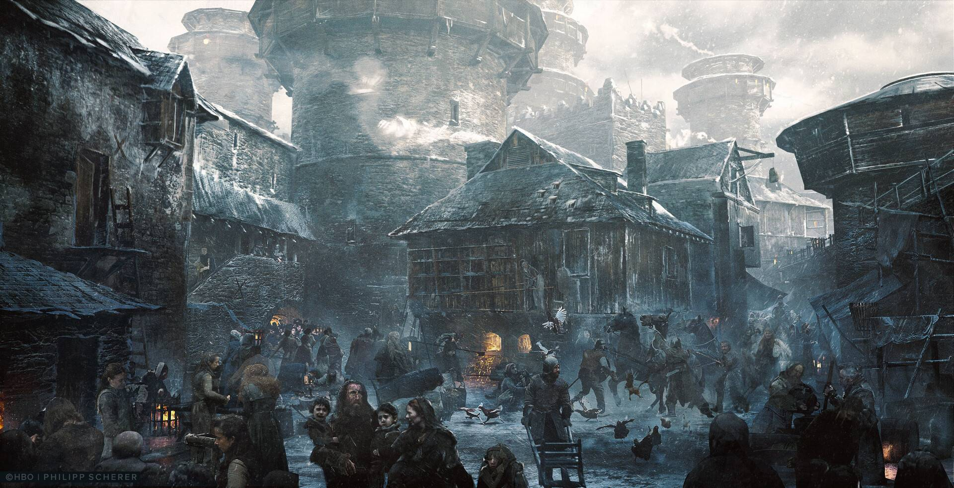 Концепт-арт: иллюстрации к восьмому сезону «Игры престолов» 7