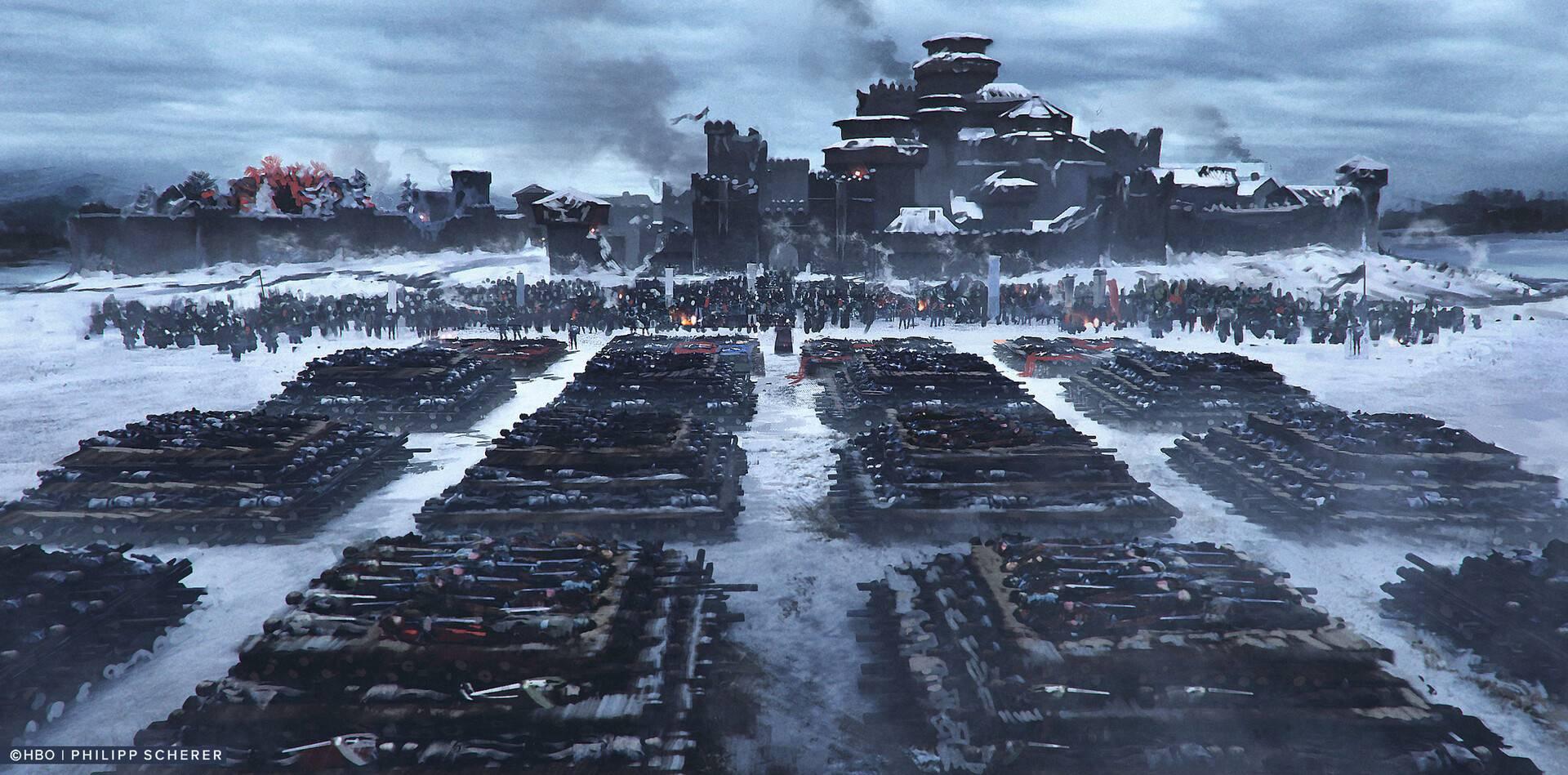 Концепт-арт: иллюстрации к восьмому сезону «Игры престолов» 8