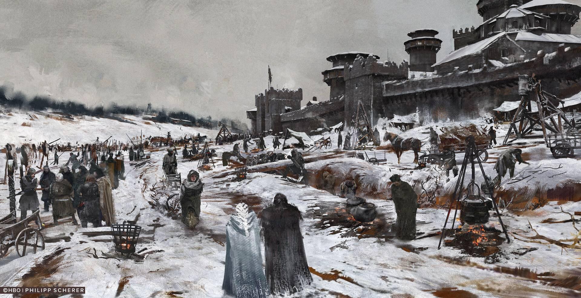 Концепт-арт: иллюстрации к восьмому сезону «Игры престолов» 9