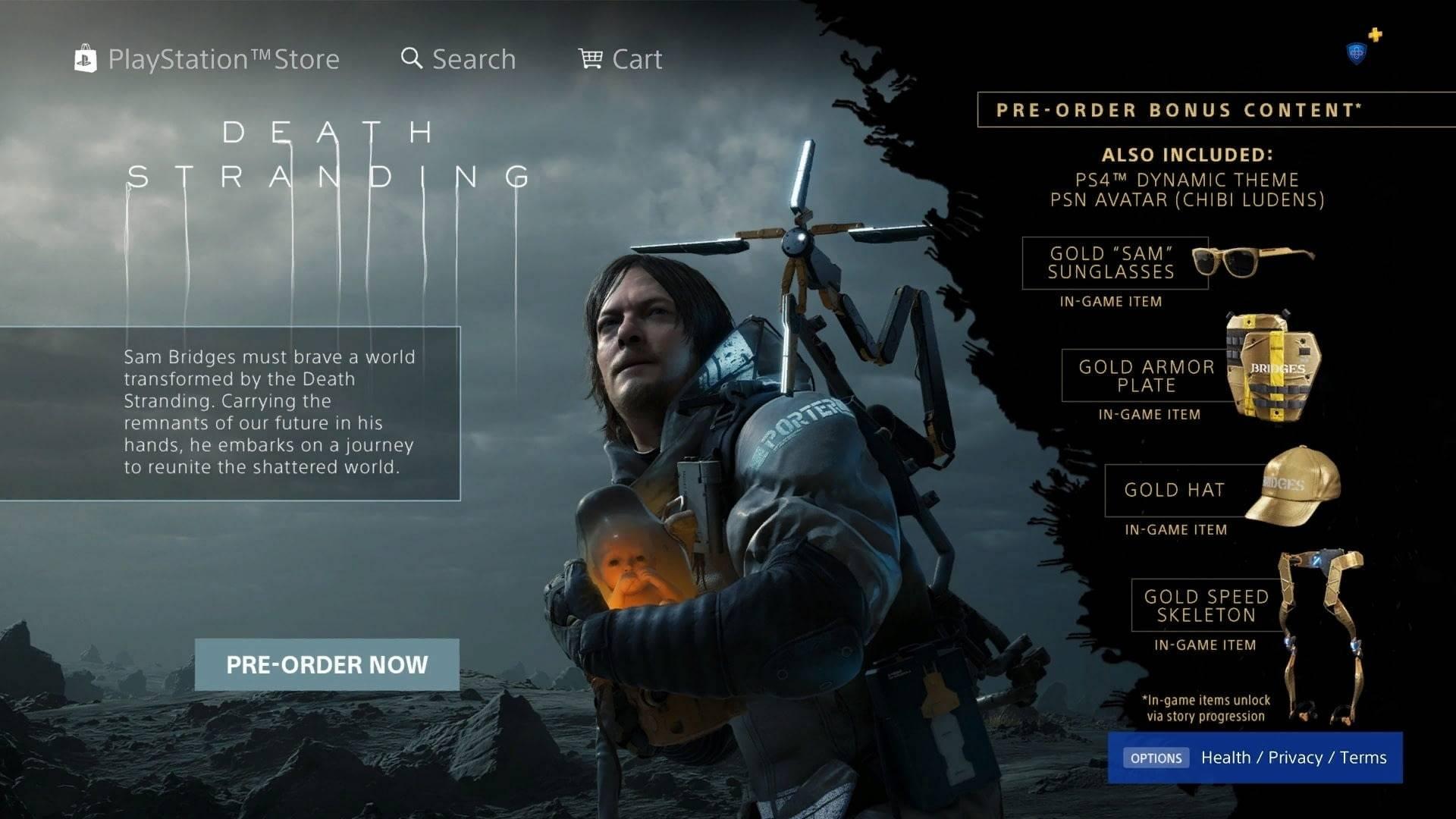 Death Stranding выйдет 8 ноября эксклюзивно для PS4 1