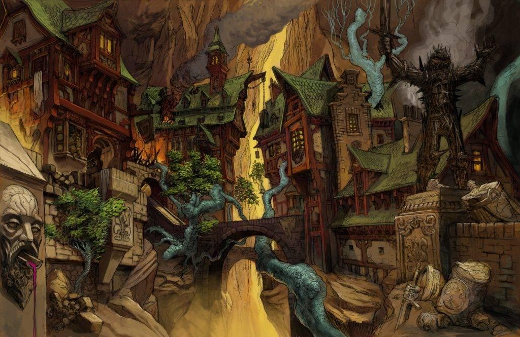 «Город Врат»: отменный иллюстрированный путеводитель для поклонников сюрреалистичного фэнтези 4