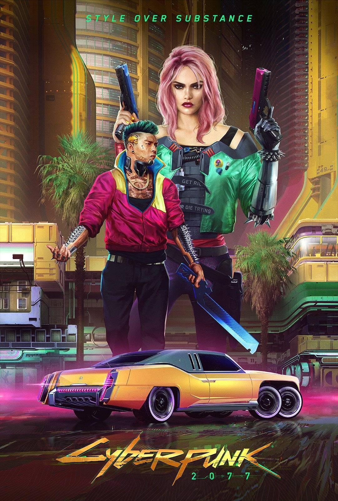 Стили Cyberpunk 2077 в одежде и архитектуре 2