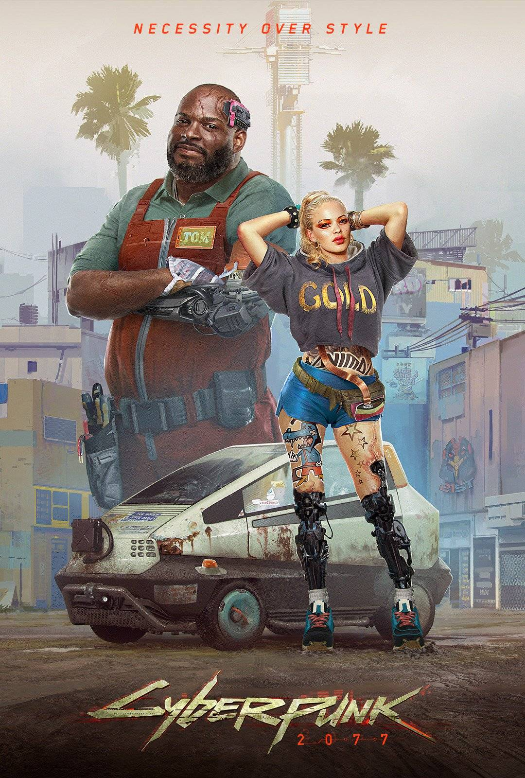Стили Cyberpunk 2077 в одежде и архитектуре 1