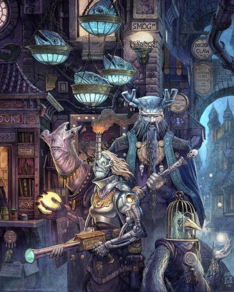 «Город Врат»: отменный иллюстрированный путеводитель для поклонников сюрреалистичного фэнтези 8