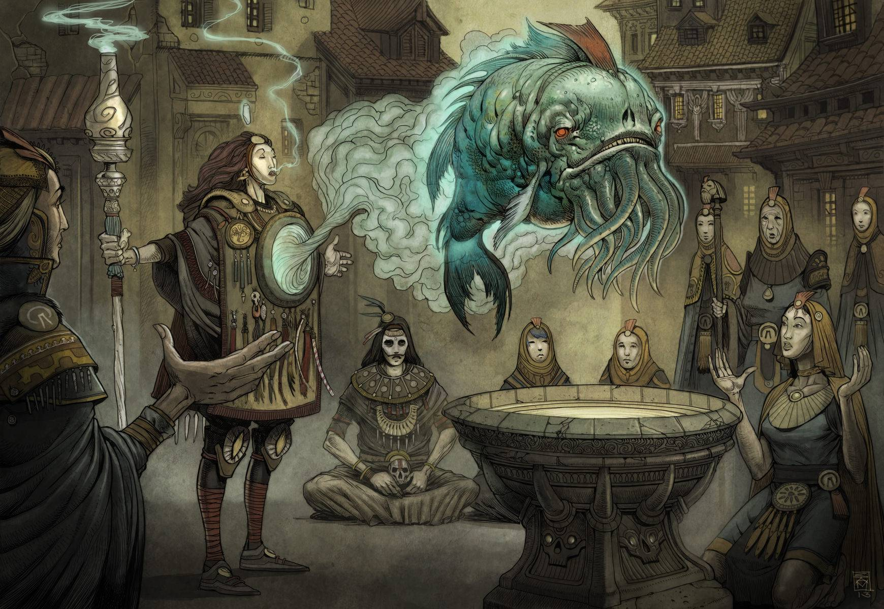 «Город Врат»: отменный иллюстрированный путеводитель для поклонников сюрреалистичного фэнтези 12