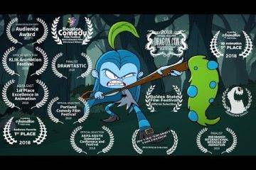 Короткометражка: Bluehilda — эпизод мультфильма про девочку-ведьму с поразительной анимацией