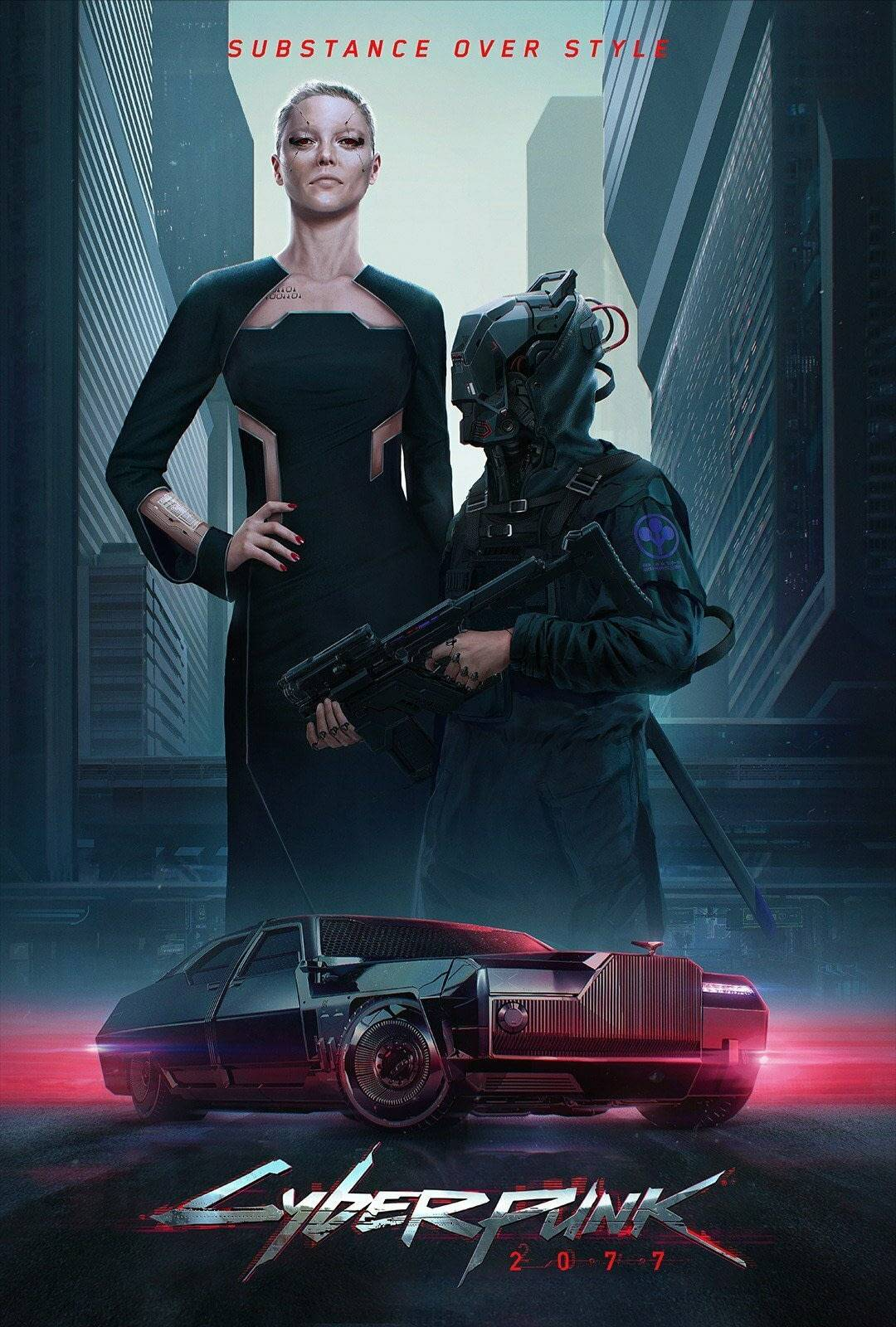 Стили Cyberpunk 2077 в одежде и архитектуре 3