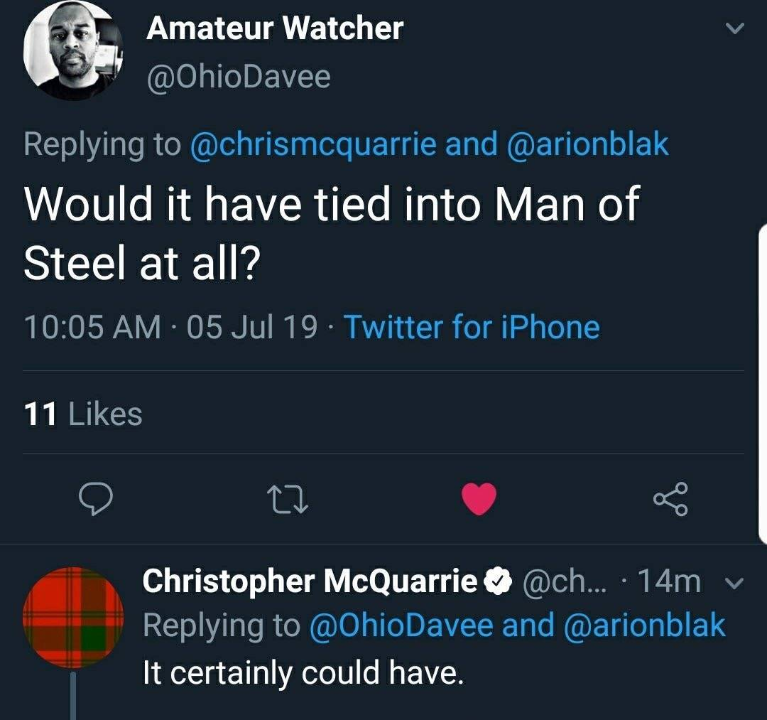У Кристофера МакКуори были планы на «Человека из стали 2» и фильм о Зелёном фонаре 1