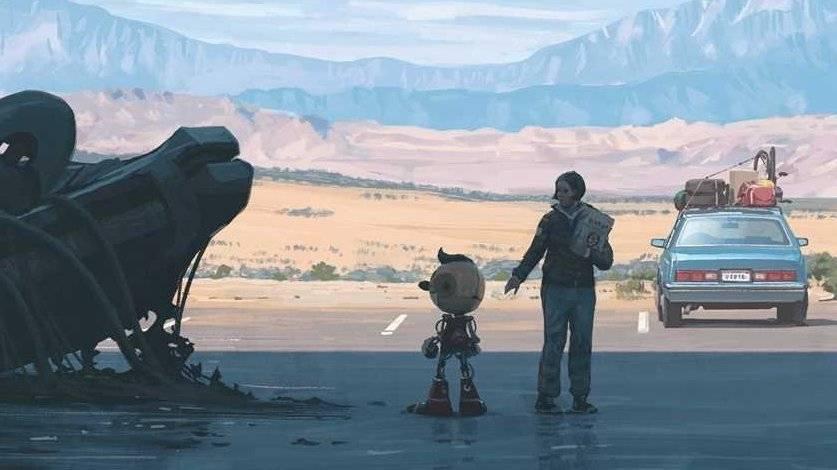 Российский дизайнер анимировал иллюстрированый роман Саймона Сталенхага «Электрический штат»