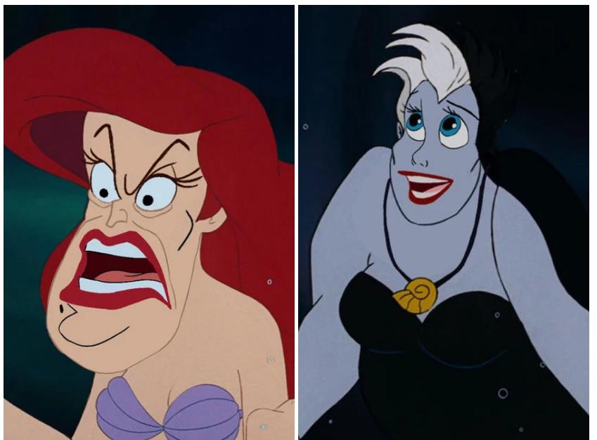 Находка: как выглядят герои и злодеи Disney, если им поменять лица 1