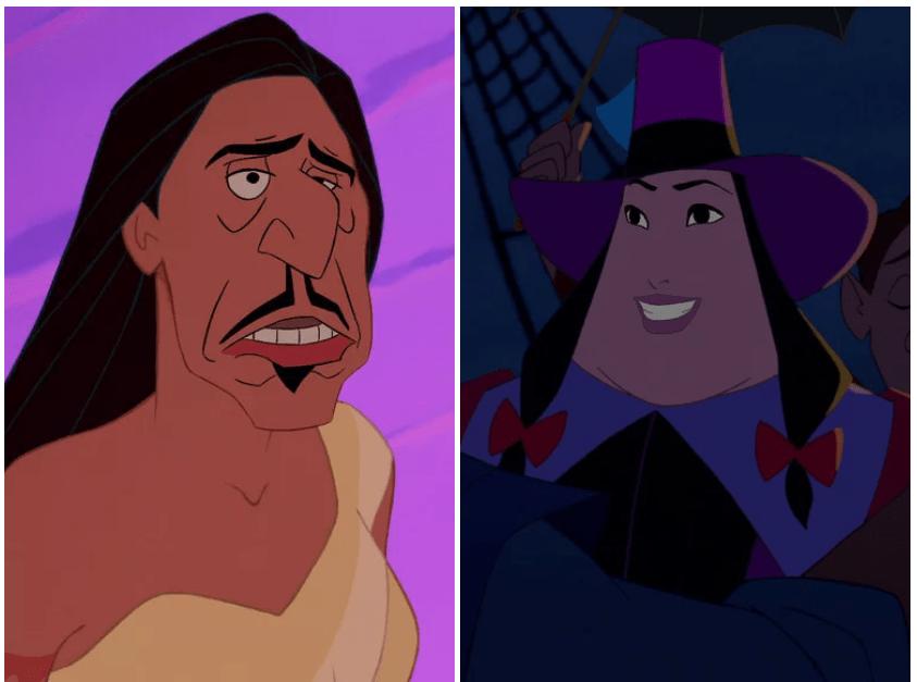 Находка: как выглядят герои и злодеи Disney, если им поменять лица 6