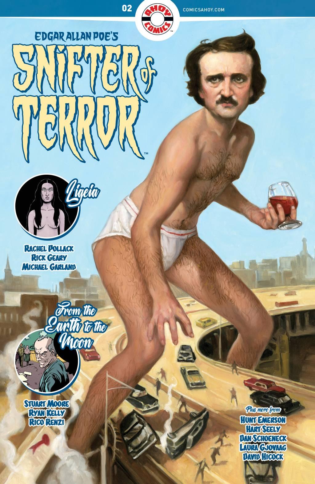 Про Эдгара Аллана По рисуют очень странные комиксы из серии Snifter Of Terror. Вот их обложки 2