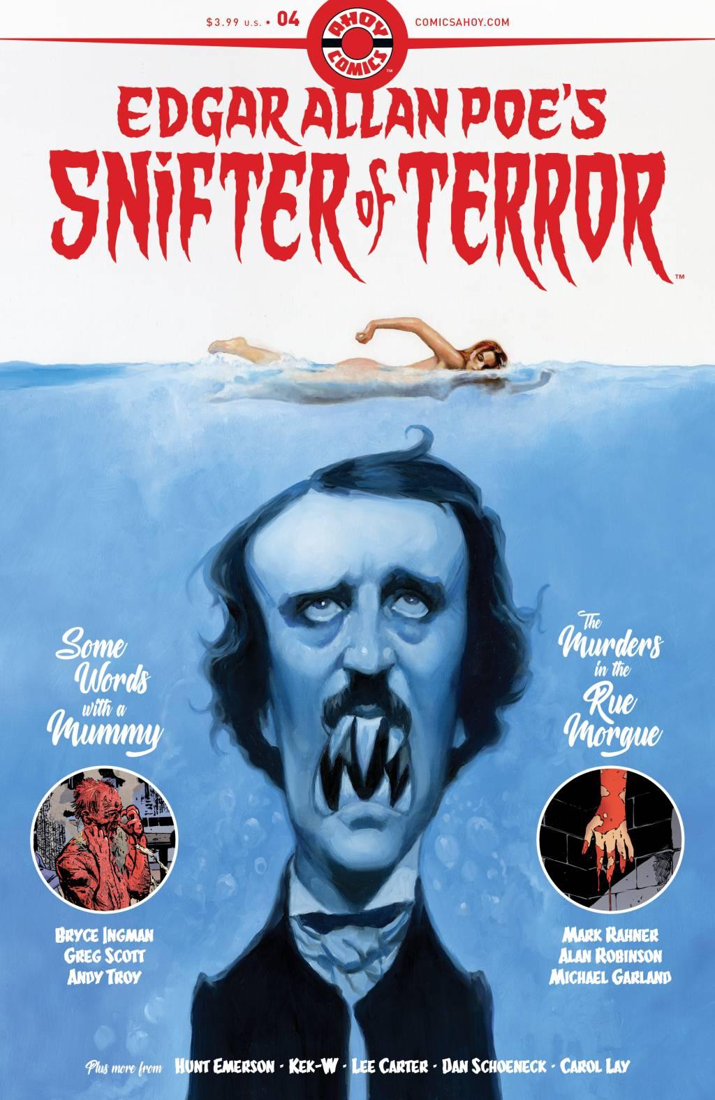 Про Эдгара Аллана По рисуют очень странные комиксы из серии Snifter Of Terror. Вот их обложки 3