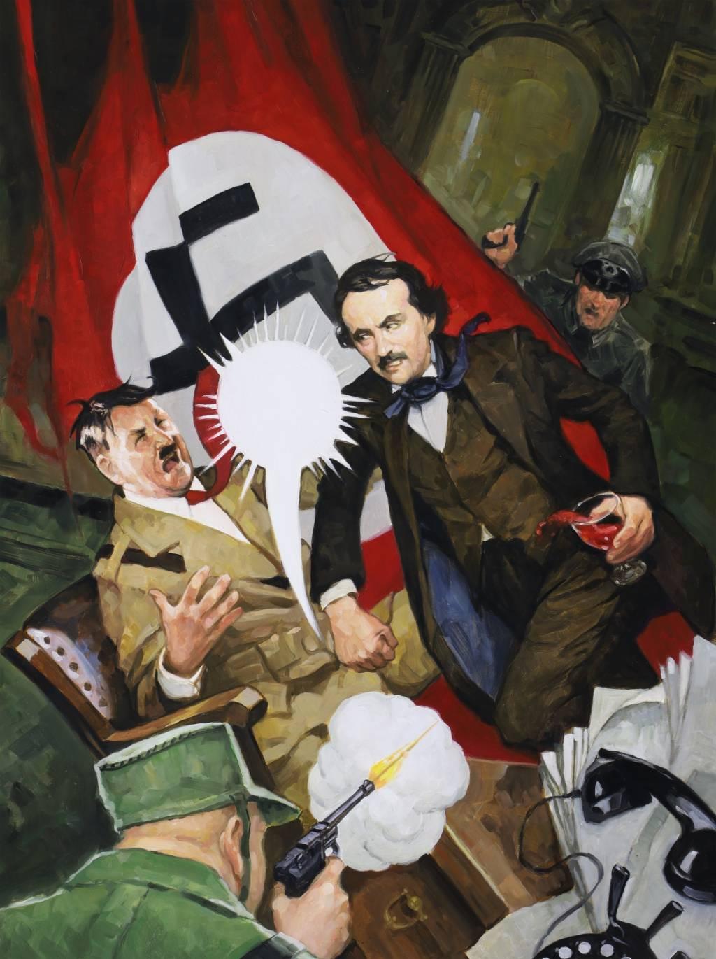 Про Эдгара Аллана По рисуют очень странные комиксы из серии Snifter Of Terror. Вот их обложки 1