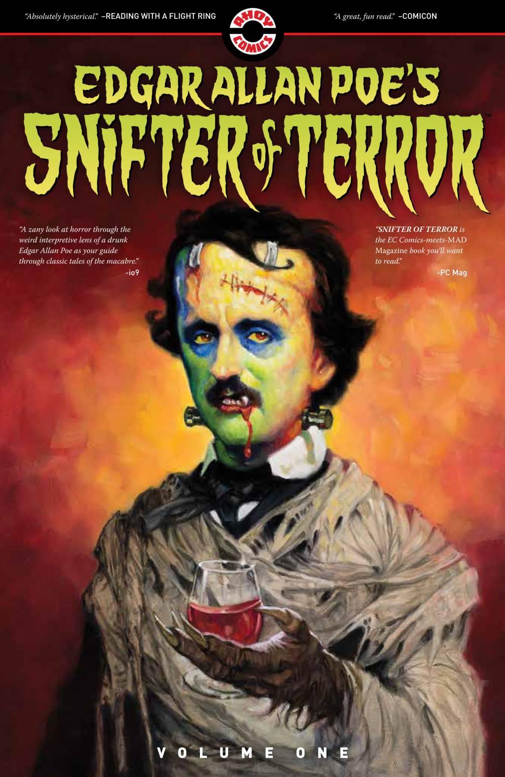 Про Эдгара Аллана По рисуют очень странные комиксы из серии Snifter Of Terror. Вот их обложки 5