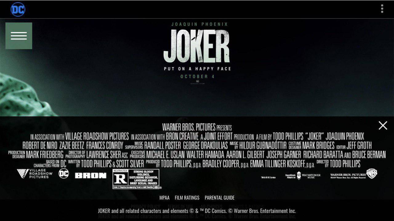 Официально: «Джокер» Тодда Филлипса получил рейтинг «R»