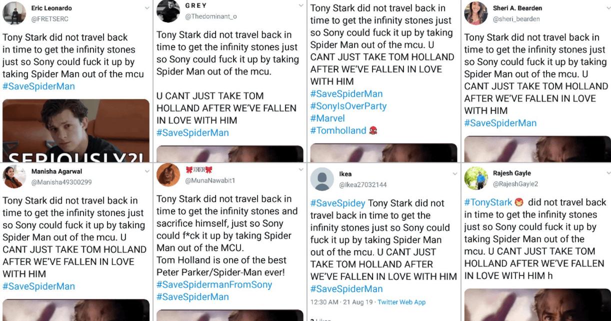 Пользователь твиттера заподозрил Disney в создании ботов для продвижения хэштега #SaveSpiderMan
