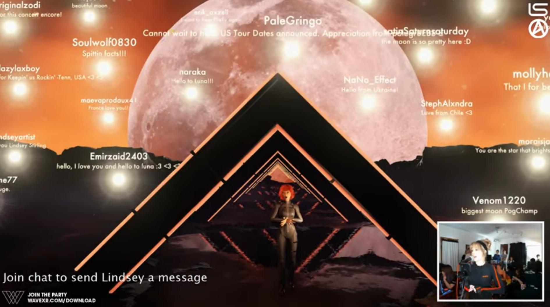 Исполнительница Линдси Стирлинг провела VR-концерт совместно со стартапом Wave