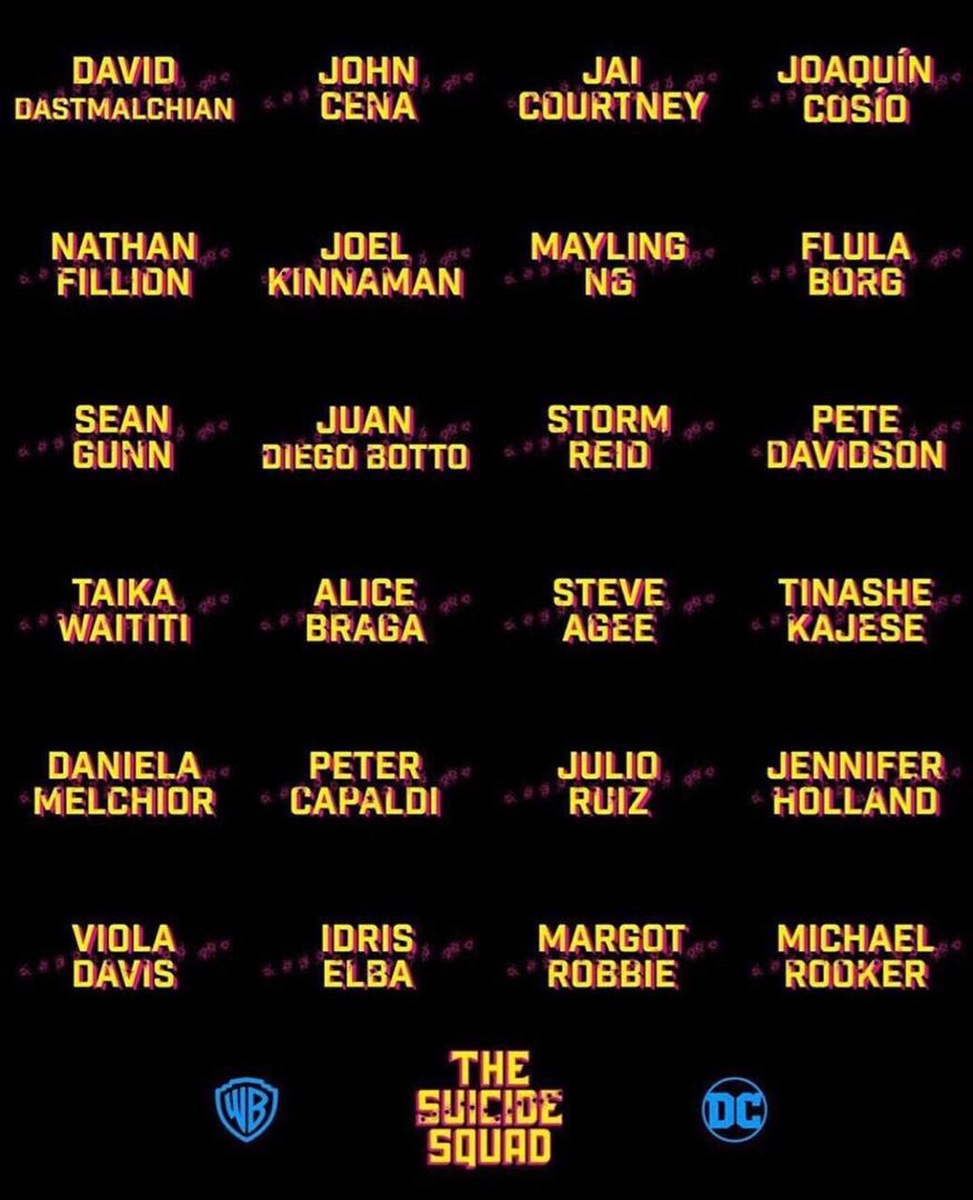 Джеймс Ганн опубликовал актёрский состав своего «Отряда самоубийц» 1