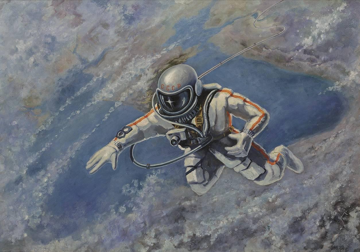 Фантастика и реальность в картинах Алексея Леонова —первого человека в открытом космосе