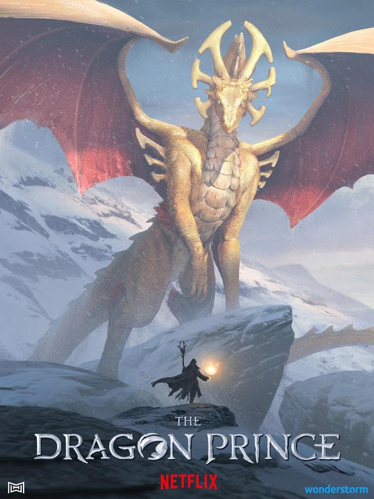 Три дракона на постера мультсериала «Принц-дракон» 1