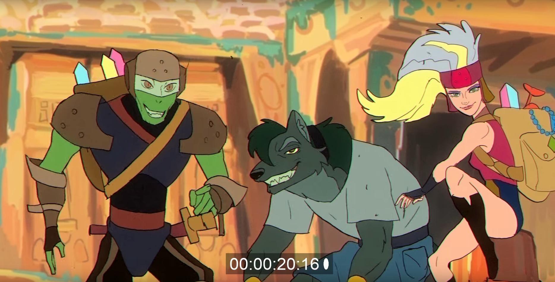 Короткометражка: Dream Bandits — трейлер фэнтези мультсериала в духе 90-х 3