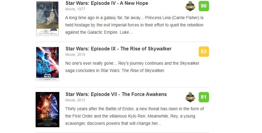 Девятый эпизод «Звёздных войн»стал одним изсамых низкооценённых фильмов пофраншизе 1