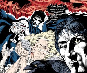 Внезапная голова: отрывок из комикса «Песочный человек»
