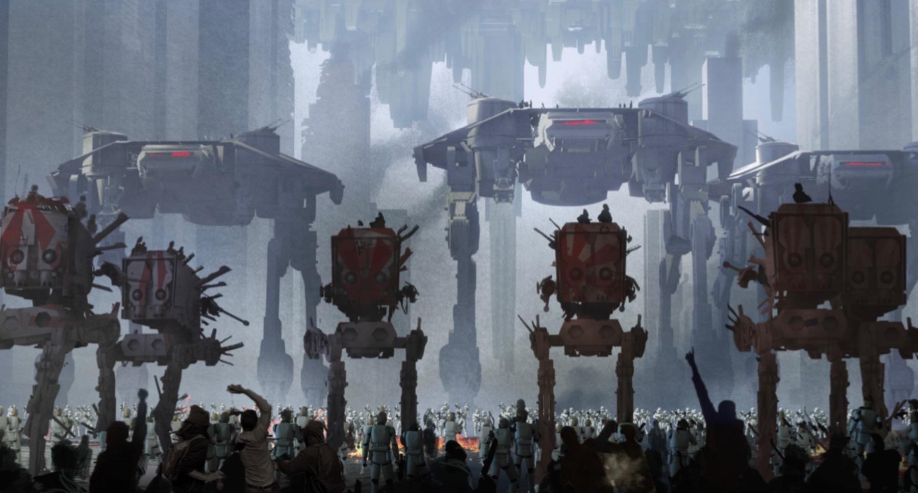 Арт: концепты кчерновой версии IX эпизода «Звёздных войн» 2