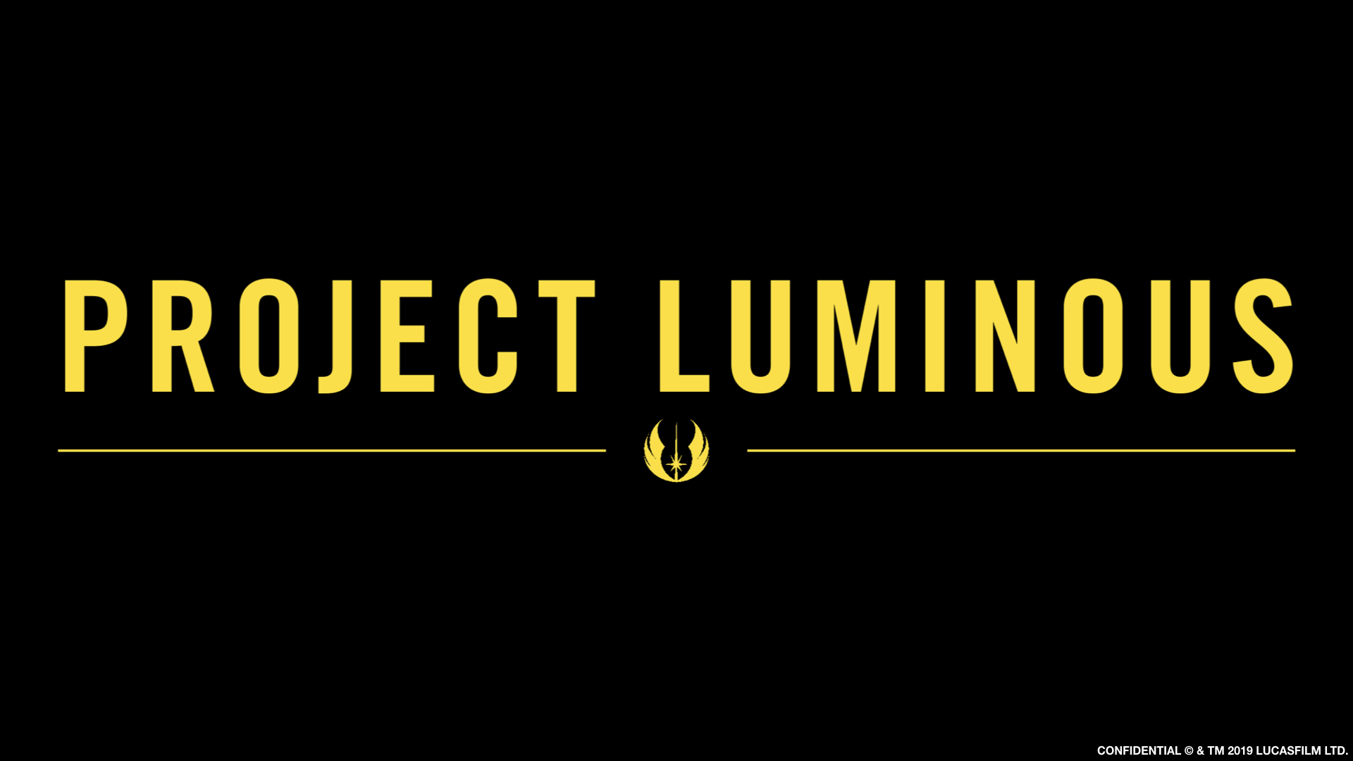 Нет, таинственный Project Luminous не связан с видеоиграми, сериалами и фильмами