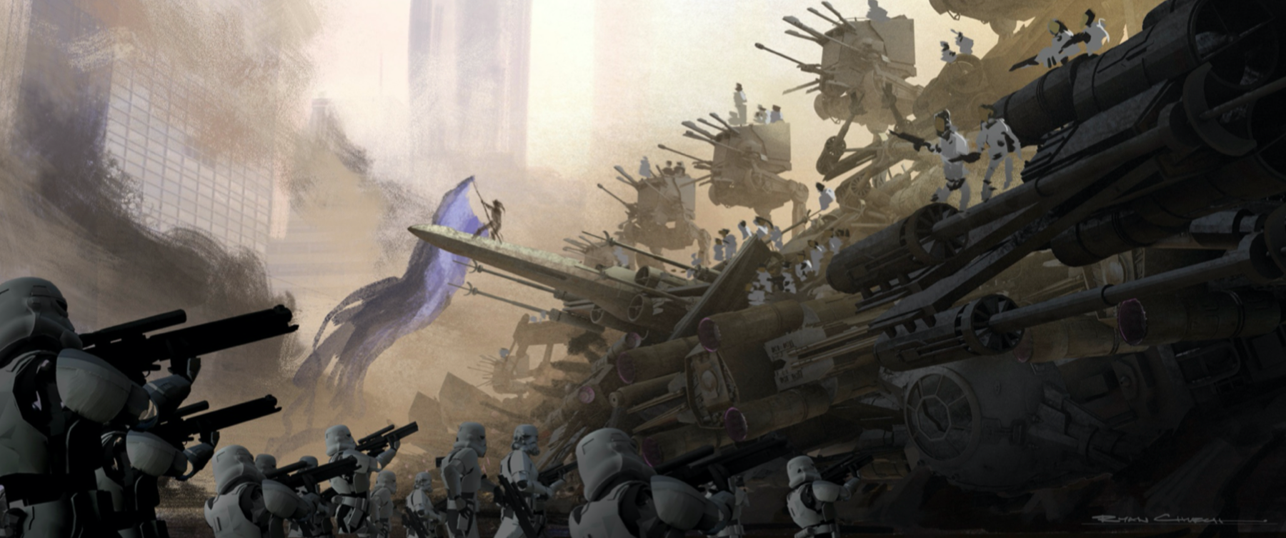 Арт: концепты кчерновой версии IX эпизода «Звёздных войн» 8