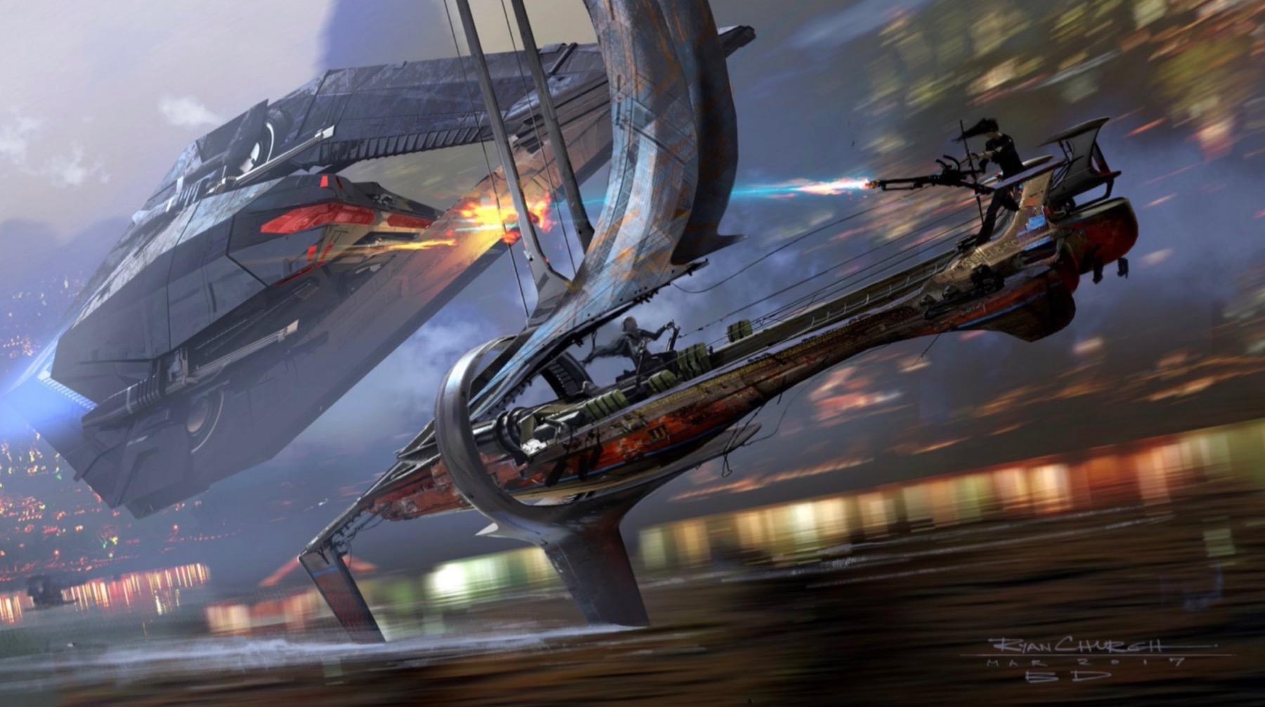 Арт: концепты кчерновой версии IX эпизода «Звёздных войн» 15