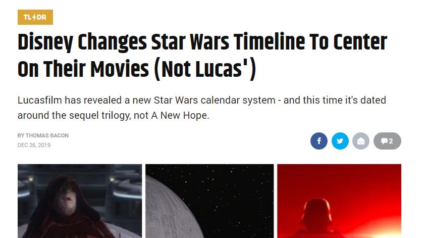 Поклонники «Звёздных войн»пишут, что Disney изменили хронологию вселенной. Это не так 1