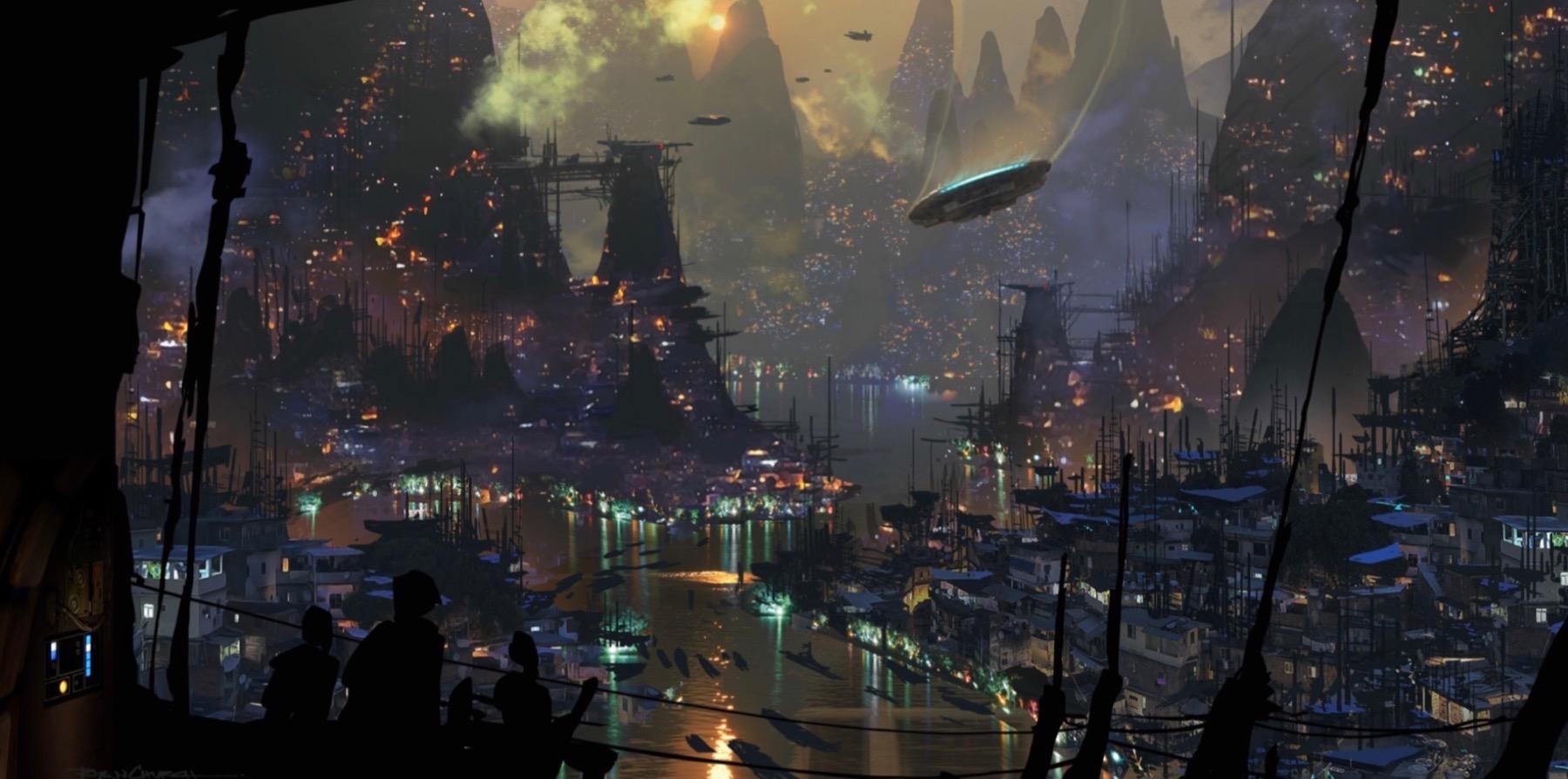 Арт: концепты кчерновой версии IX эпизода «Звёздных войн» 7