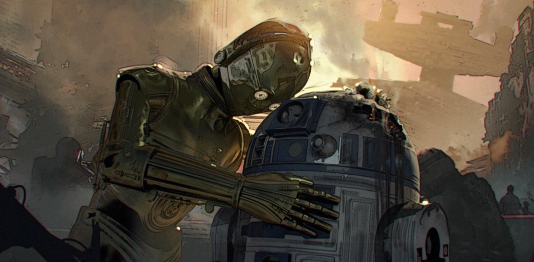 Арт: концепты кчерновой версии IX эпизода «Звёздных войн» 13