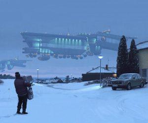 Первый кадр сериала вселенной Tales from the Loop от художника Саймона Столенхаг