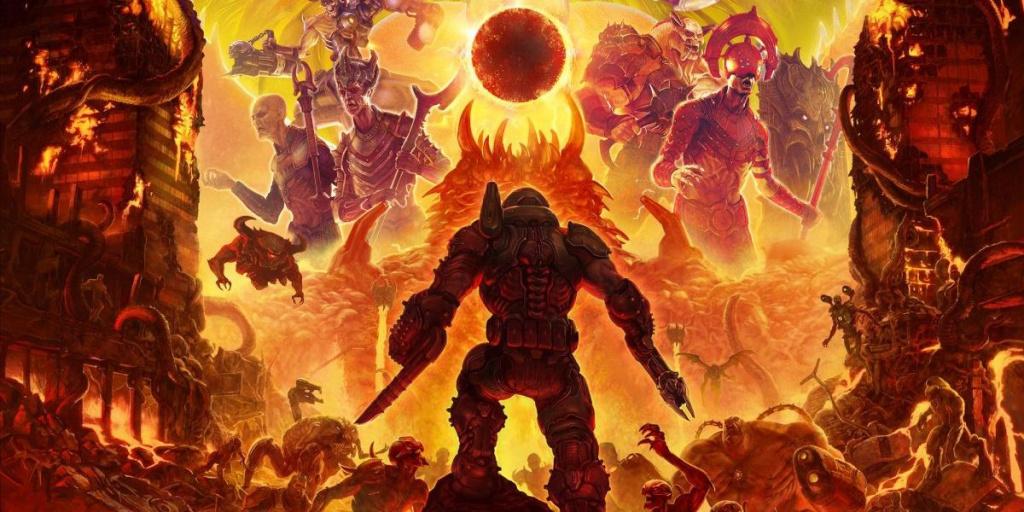 Думгай крошит орды демонов в 10-минутном геймплее Doom Eternal