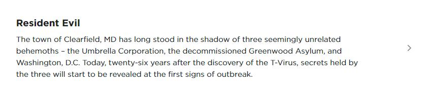Утечка: описание сериала Resident Evil отNetflix 1