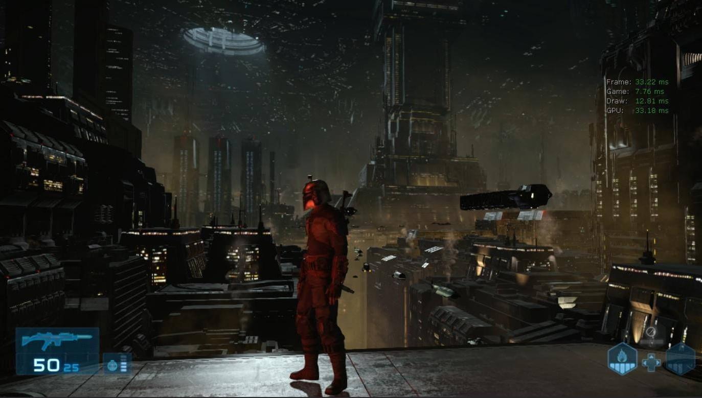 Кадр: скриншот изотменённой игры Star Wars 1313 проБобу Фетта 1