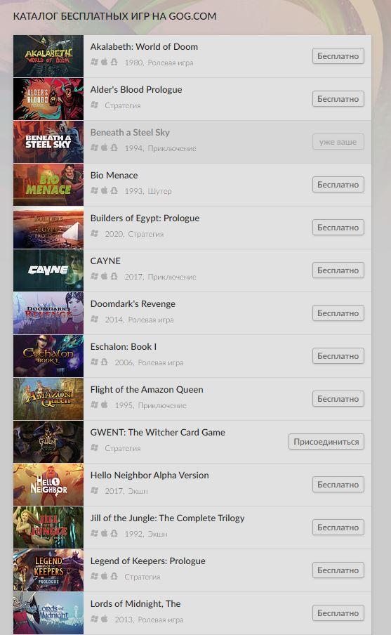 Раздача: 27 бесплатных игр разных жанров отGOG 1