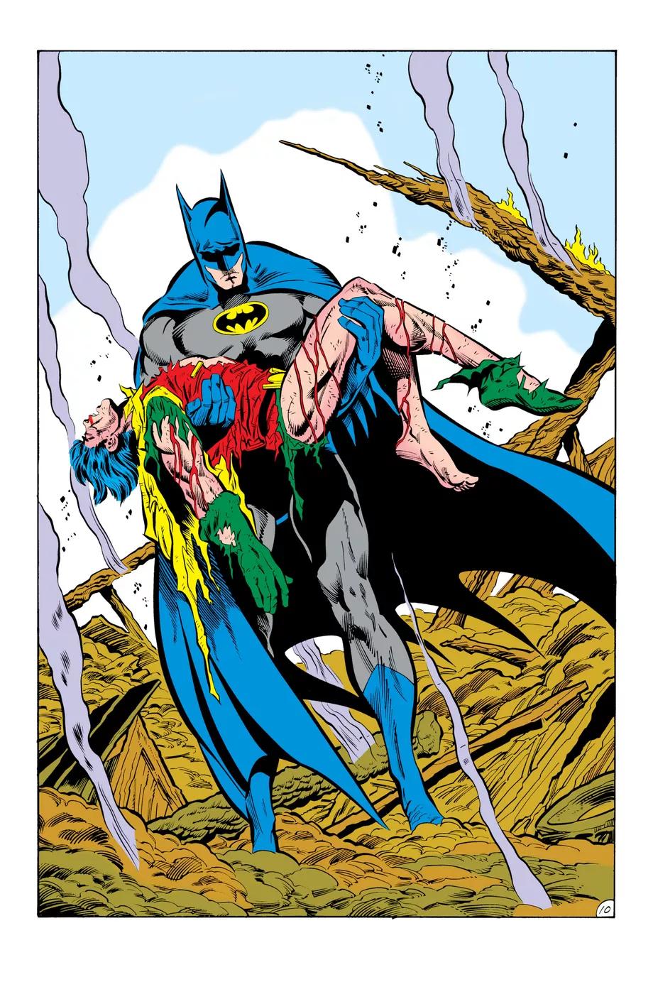 DC показала альтернативные кадры комикса «Бэтмен: Смерть в семье» — здесь Робин выжил 4