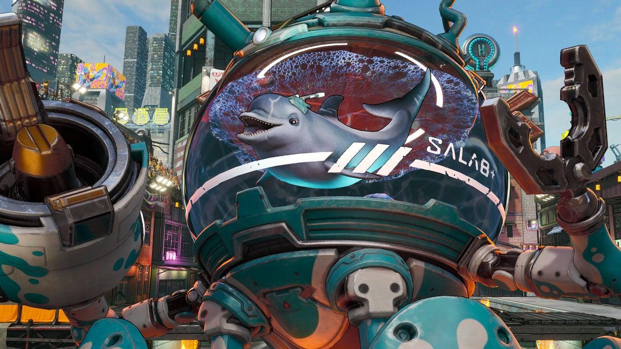 Разработчики Bleeding Edge показали нового героя — дельфаина в мехо-аквариуме
