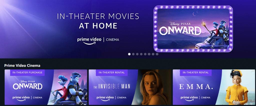 Amazon запустил раздел Prime Video Cinema — для фильмов, которые быстро выпустили вдомашний прокат