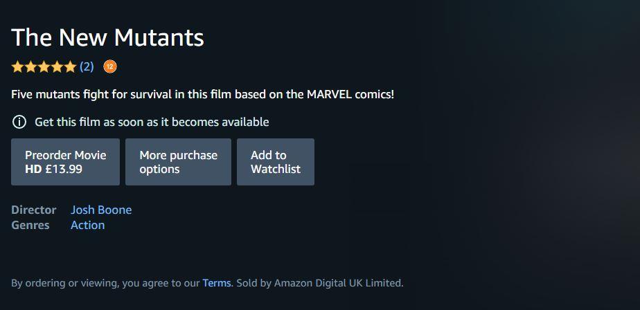 На Amazon появился предзаказ «Новых мутантов». Даты выхода по-прежнему нет 1