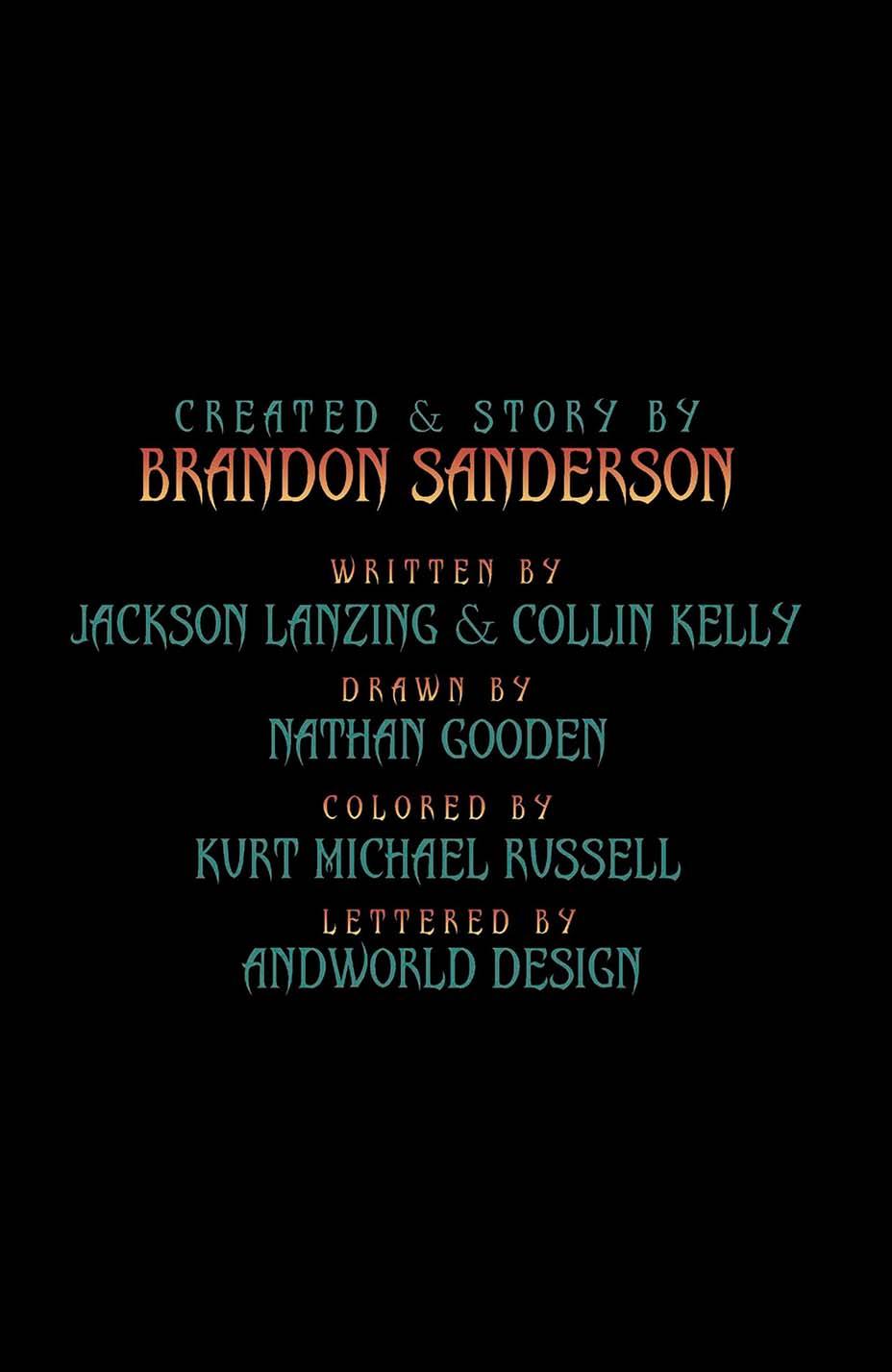 THR опубликовал первую главу комикса Dark One Брендона Сандерсона 2