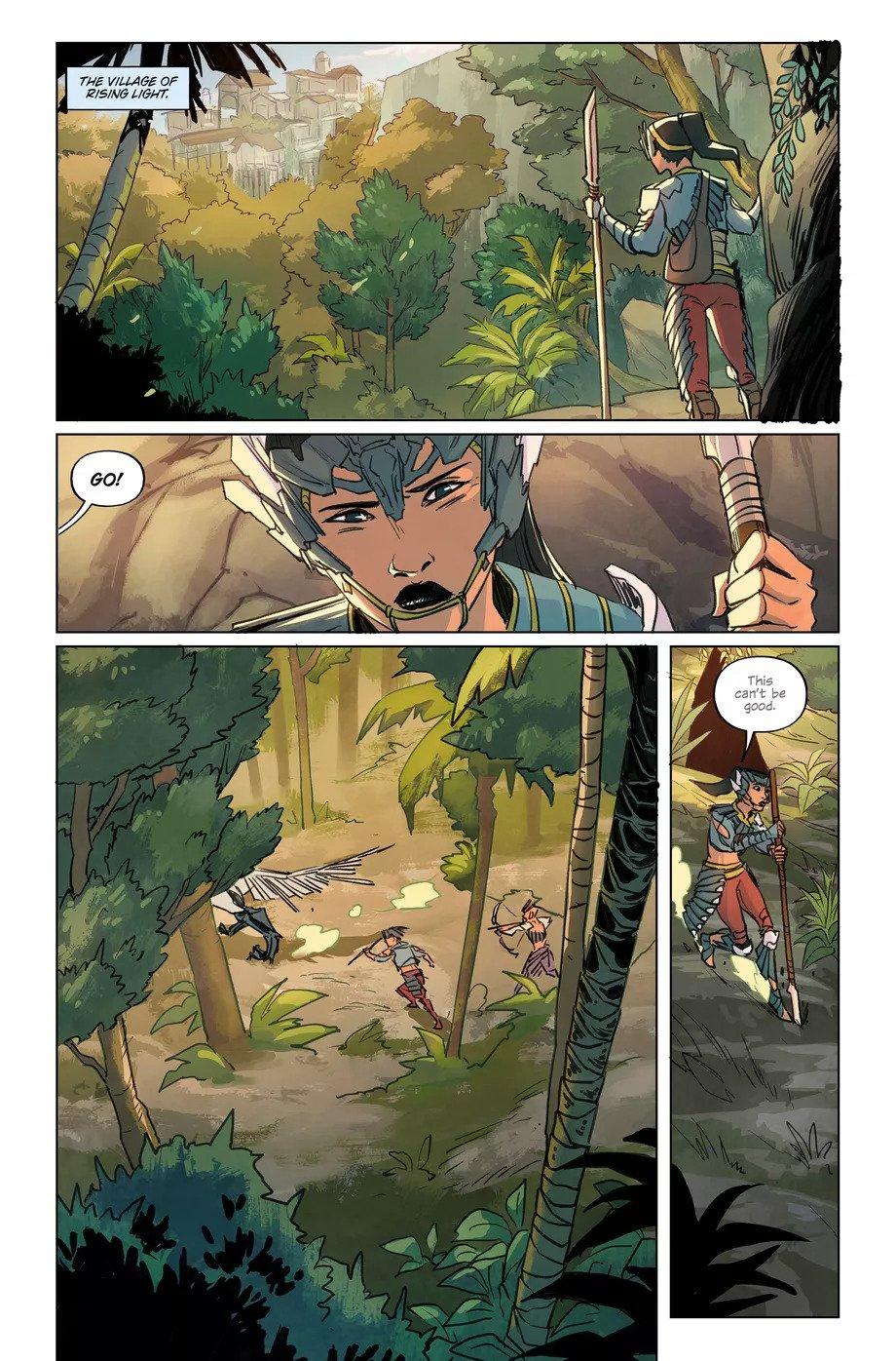 Первые страницы комикса Horizon Zero Dawn 1