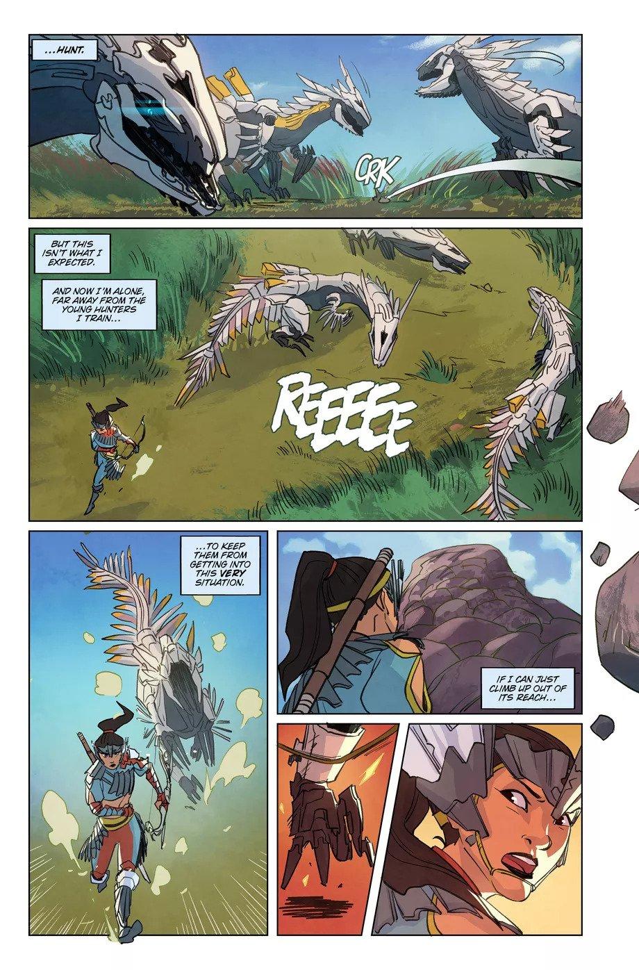 Первые страницы комикса Horizon Zero Dawn 2