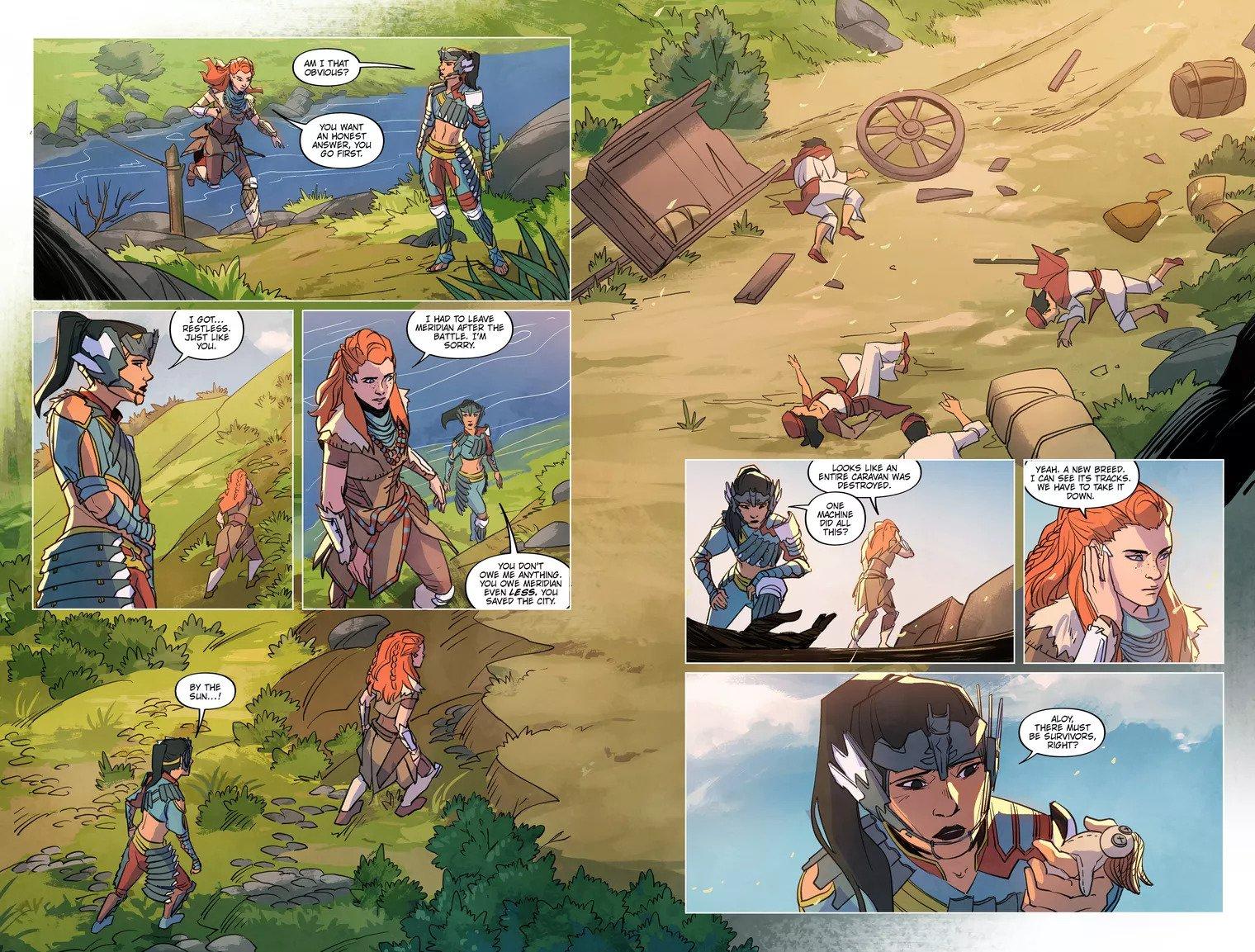 Первые страницы комикса Horizon Zero Dawn 3