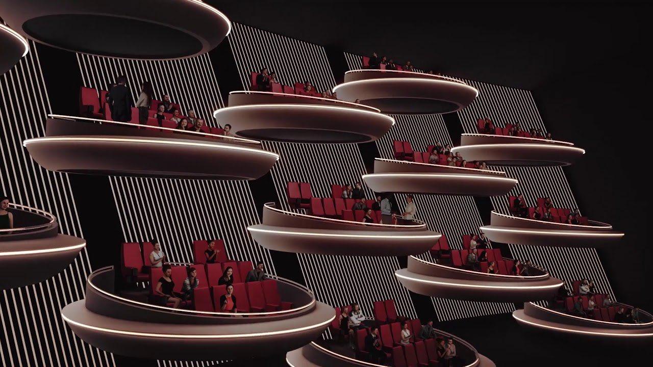 Компания Ōma Cinema представил концепт кинозала IMAX — это почти галактический сенат изStar Wars