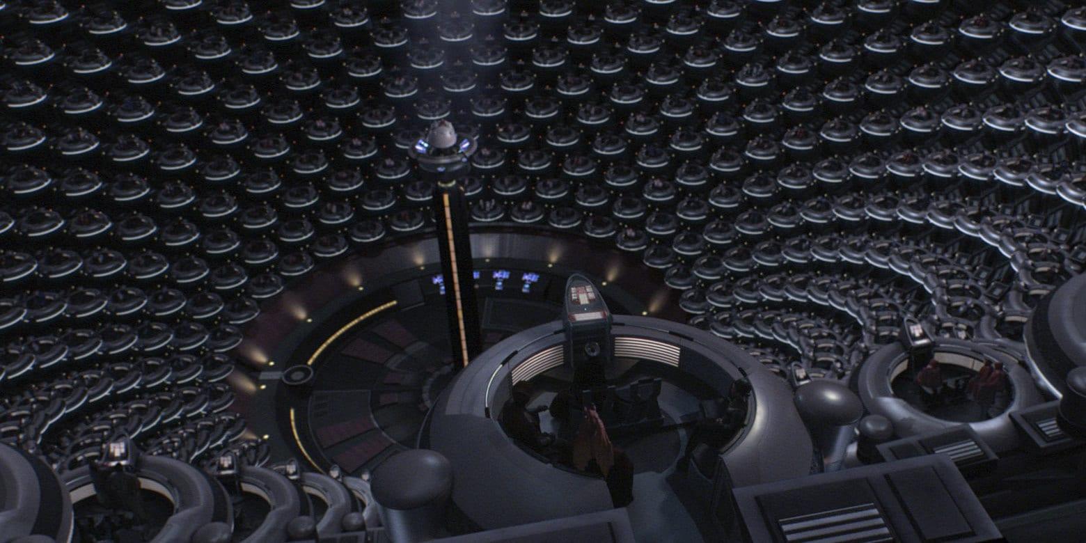 Компания Ōma Cinema представил концепт кинозала IMAX — это почти галактический сенат изStar Wars 2